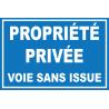 Propriété privée voie sans issue