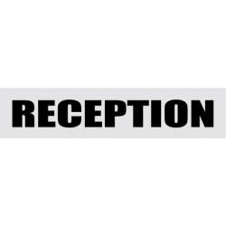 Plaque de porte Réception