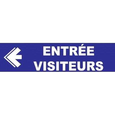 Entrée visiteurs à gauche