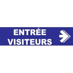 Entrée visiteurs à droite