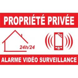 Panneau propriété privée alarme vidéo surveillance