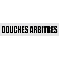 Plaque de porte Douches arbitres