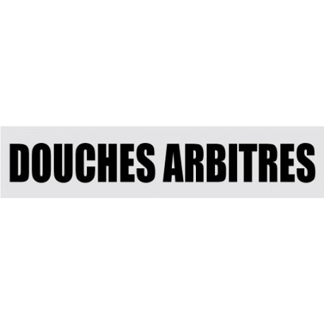DOUCHE ARBITRES