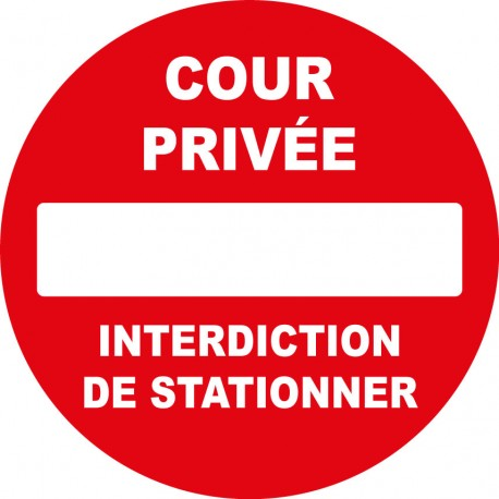 Cour privée interdiction de stationner