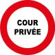 Cour privée interdiction de stationner