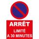 Stationnement limité à 30 minutes