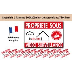 Kit de dissuasion propriété sous vidéo surveillance