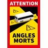 Adhésif angle mort pour bus (lot de 4p)