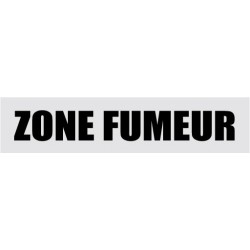Plaque de porte Zone fumeurs
