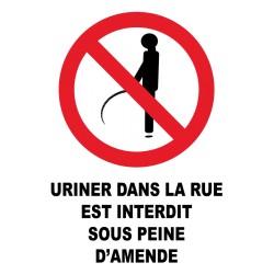 Uriner dans la rue est interdit sous peine d'amende
