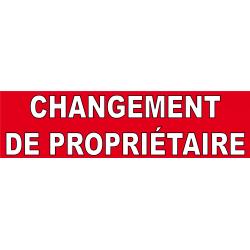 Changement de propriétaire (banderole)