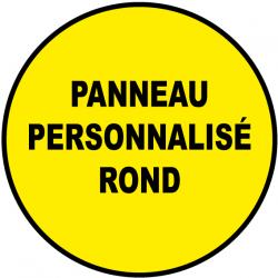 Panneau personnalisé rond pvc