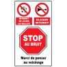 Stop au bruit, klaxon, ballon