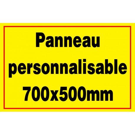 Panneau personnalisé 700x500mm