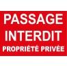 Passage interdit propriété privée