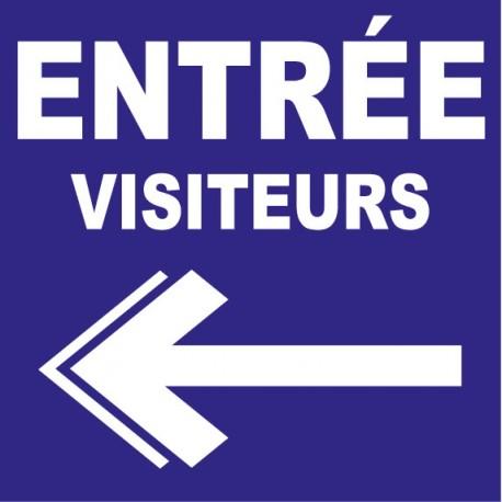 Panneau sortie visiteurs gauche
