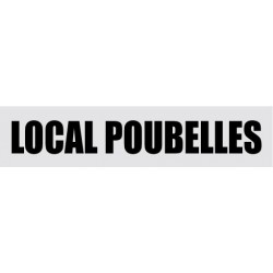 Plaque de porte local poubelles