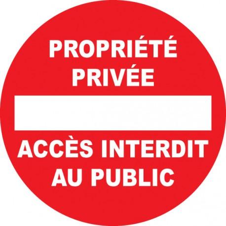 Panneau rond propriété privée passage interdit