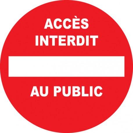Propriété privée accès interdit au public