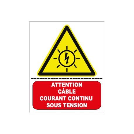 """Etiquette """"armoire sous tension 24h/24"""". Lot de 10ex"""