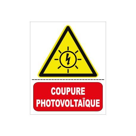 """Etiquette """"Attention cable courant continu sous tension"""". Lot de 10ex"""
