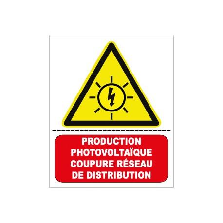 """Etiquette """" Production photovoltaÏque"""". Lot de 10ex"""
