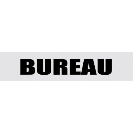 Plaque de porte Bureau
