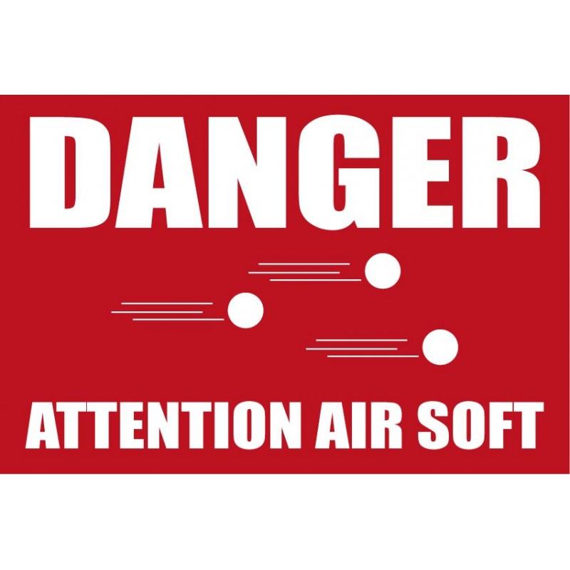 panneau attention danger air soft. Black Bedroom Furniture Sets. Home Design Ideas