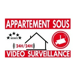 Appartement sous vidéo surveillance lot de 10p