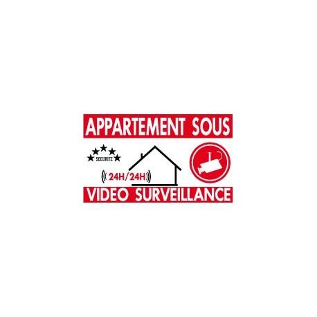 Appartement sous vidéo surveillance (lot de 6p)