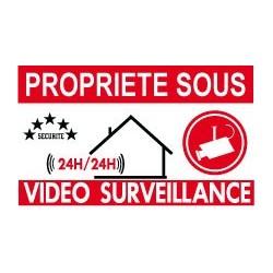 Propriété sous vidéo surveillance (lot de 6p)