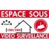 Espace sous vidéo surveillance (lot de 6p)