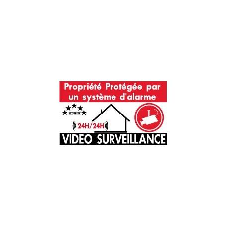 Propriété protégée  par un système d'alarme         (lot de 6p)