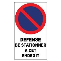 """Autocollant de dissuasion pour parking """"stationnement défense de stationner à cet endroit """""""