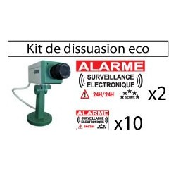 Kit de dissuasion avecc caméra factie eco