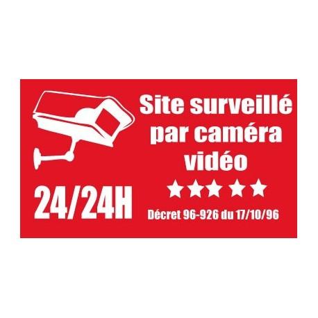 Site surveillé par caméra vidéo