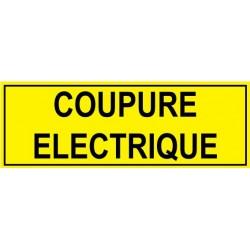 Panneau coupure électrique