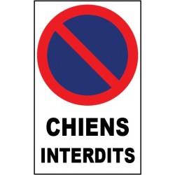 """Panneau """"Chiens interdits"""""""