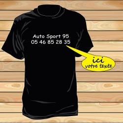 Tee shirt impression coté poitrine par 10 pièces