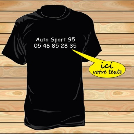 Tee shirt impression centre poitrine par 10 pièces