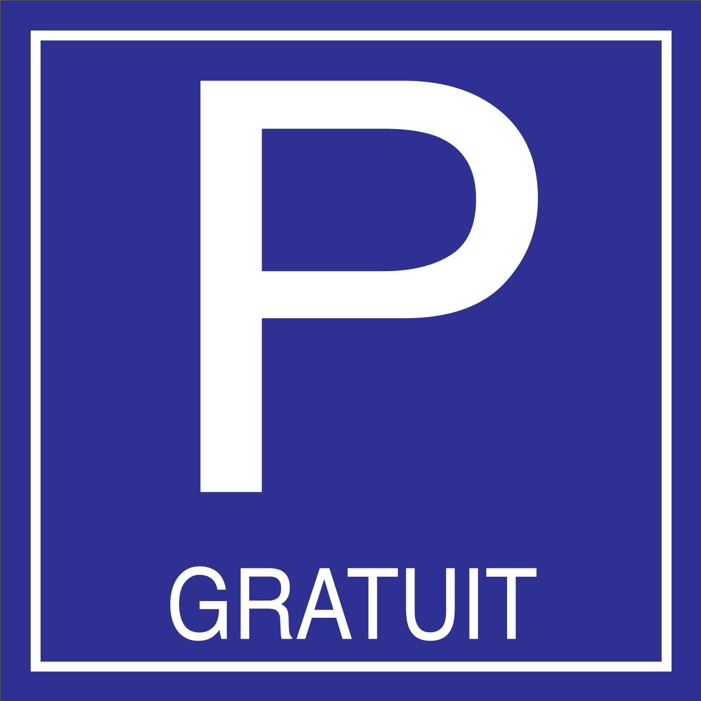 Panneau parking gratuit