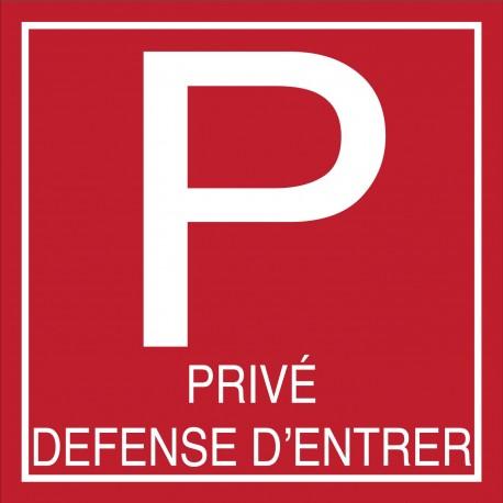 Parking privé défense d'entrée