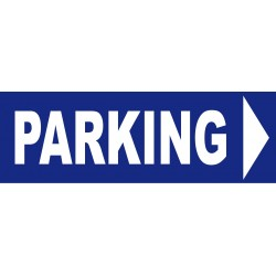 panneau Parking direction droite