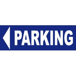 panneau Parking direction gauche