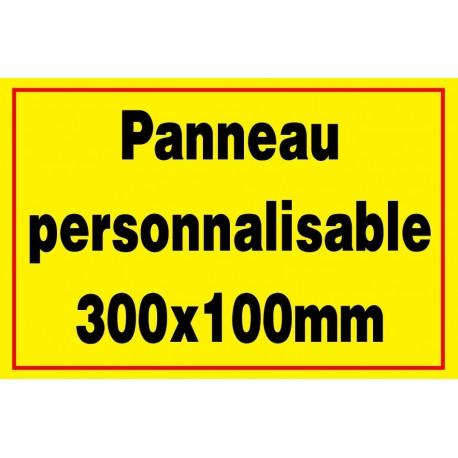 Panneau signalétique personnalisé 200x100mm