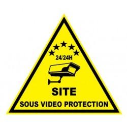 """Etiquette dissuasive """"site sous vidéo protection"""""""