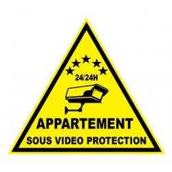 """Etiquette dissuasive """"appartement sous vidéo protection"""""""