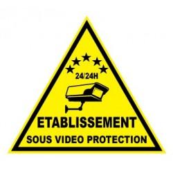 """Etiquette dissuasive """"établissement sous vidéo protection"""""""