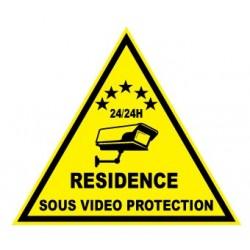 """Etiquette dissuasive """"résidence sous vidéo protection"""""""