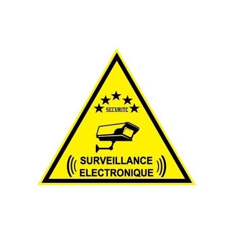 """Etiquette dissuasive """" surveillance électronique"""""""